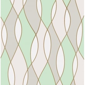 Apex Wave Mint Green Wallpaper Fd42173