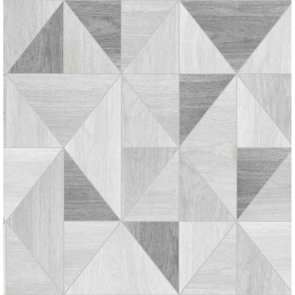 Apex Wood Grain Silver And Grey Wallpaper FD42226