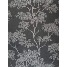 Aspen Black And Silver Glitter Tree Wallpaper FD40979