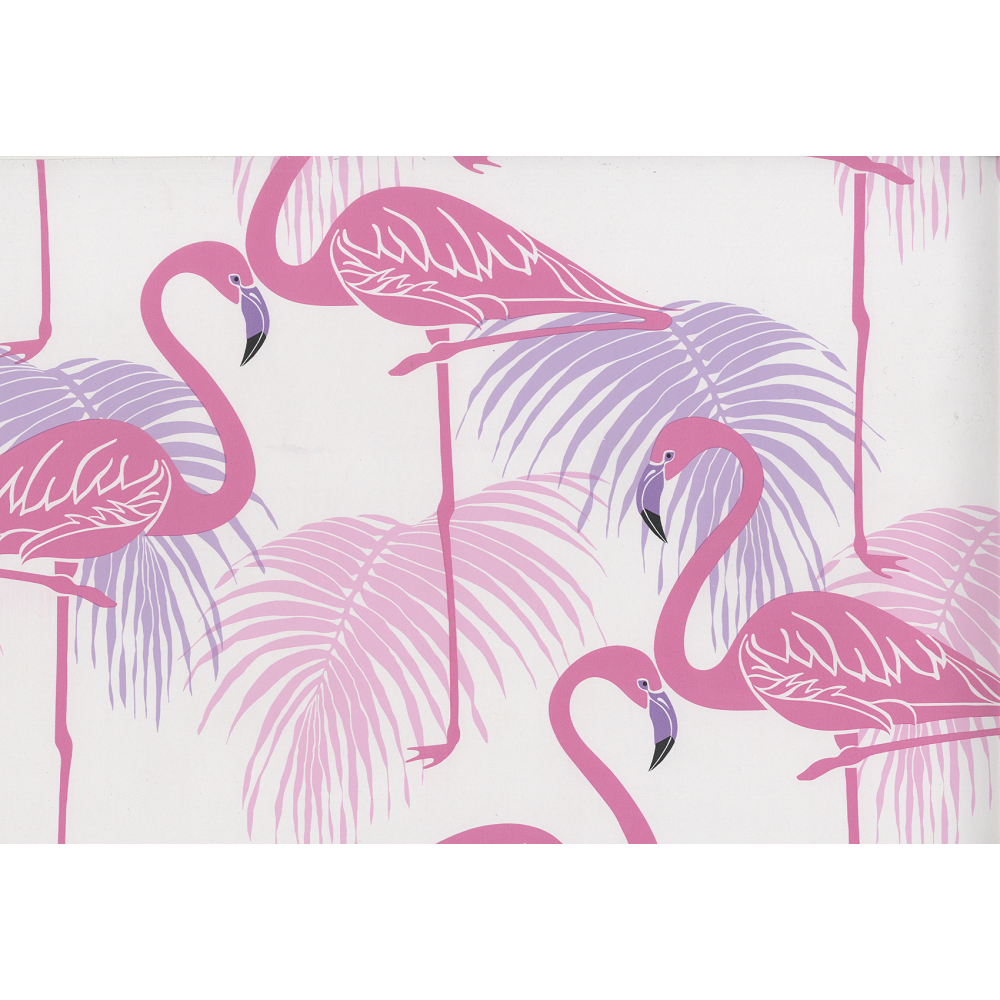 Fine Decor Flamingo Pink And Purple Wallpaper Fd42214