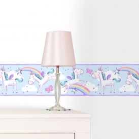 Girls Unicorn Border Wallpaper BO41911