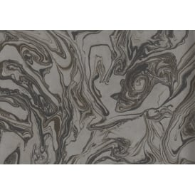 Marble Swirl Charcoal And Brown Insignia Wallpaper Fd24457