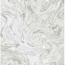Fine Decor Marble Swirl White And Grey Insignia Wallpaper Fd24458