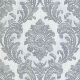Milano Glitter Grey Damask Wallpaper M95585