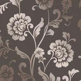 AS Creation Jewel Geometric Wallpaper Glitter Trellis Black Rose Gold 36874-1