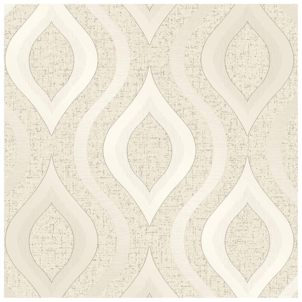Fine Decor Quartz Cream Glitter Geometric Wallpaper