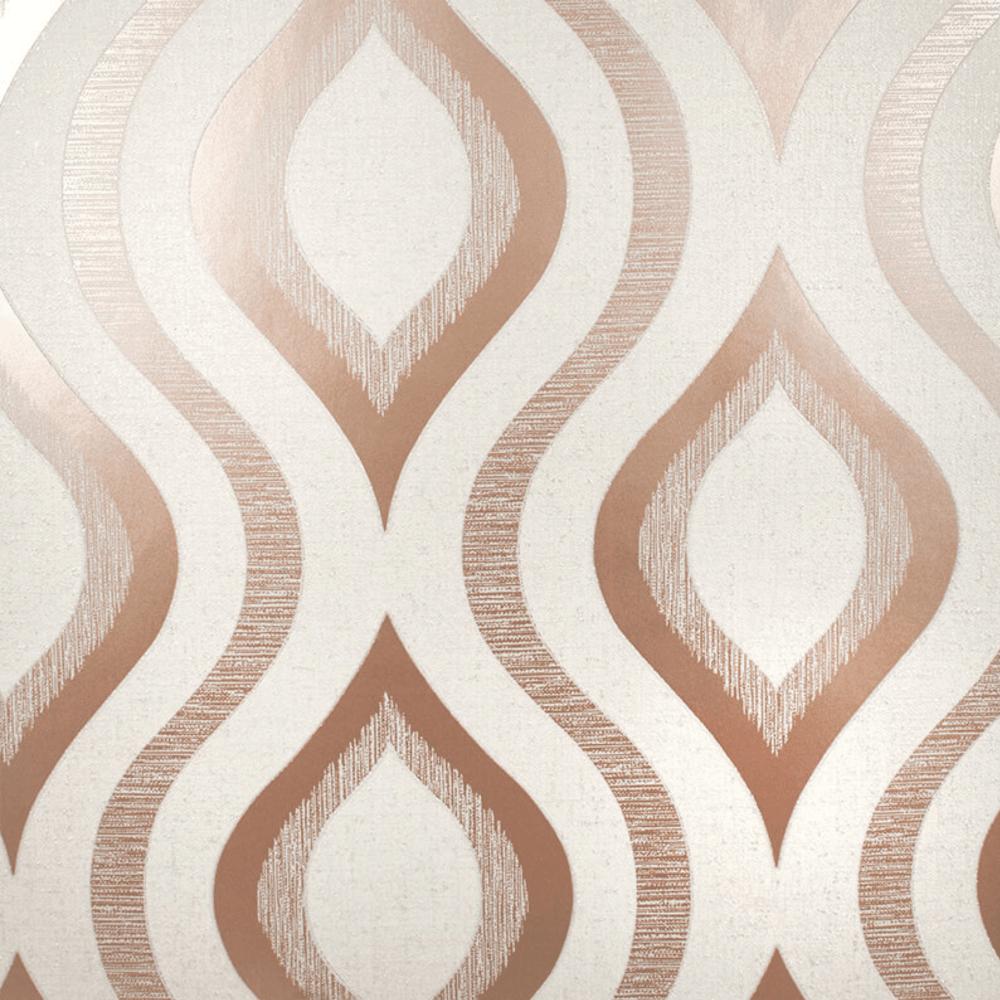 Fine Decor Quartz Rose Gold Glitter Geometric Wallpaper ...