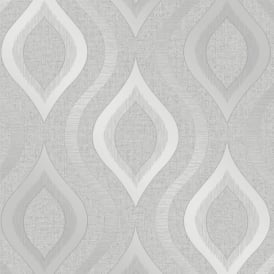 Quartz Silver Glitter Geometric Wallpaper FD41968