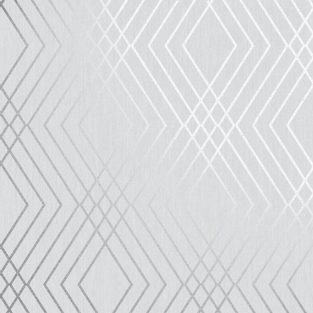 Grey and Silver Shard Geometric Diamond Wallpaper FD42606