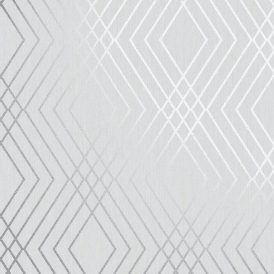 FD42606 Fine Decor Shard Geometric Stone//Silver Metallic Wallpaper
