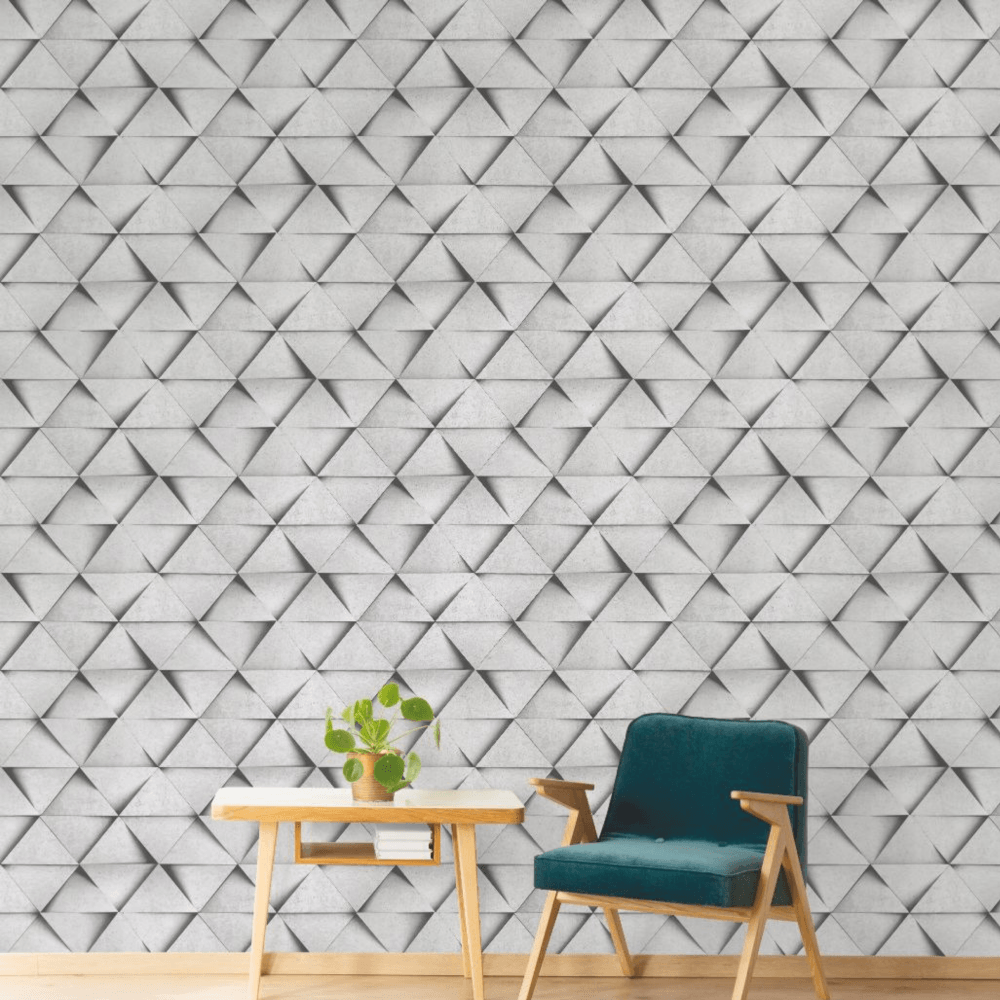 Fine Decor Triangle Rustic Grey 3D ...
