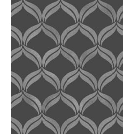 Wentworth Black And Grey Diamond Glitter Wallpaper FD41702
