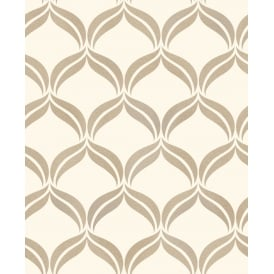 Wentworth Cream And Gold Diamond Glitter Wallpaper FD41708