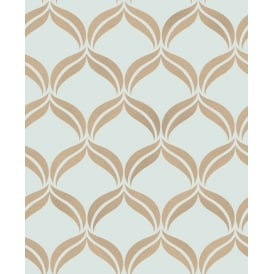 Wentworth Teal And Gold Diamond Glitter Wallpaper FD41711