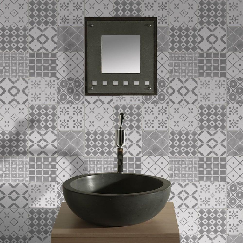 Graham Brown Contour Porches Mosaic Grey Wallpaper Kitchen And