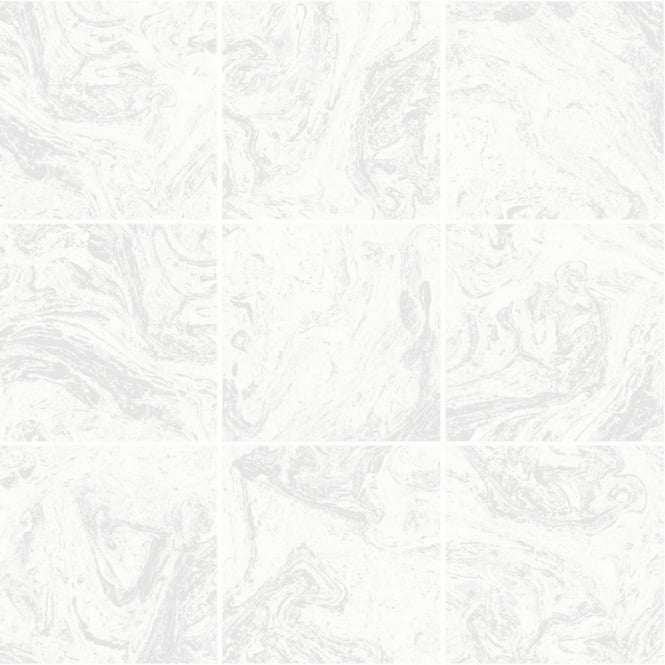 Graham And Brown Contour White Marble Tile Glitter Kitchen And Bathroom Wallpaper 104881