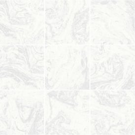 Contour White Marble Tile Glitter Kitchen And Bathroom Wallpaper 104881