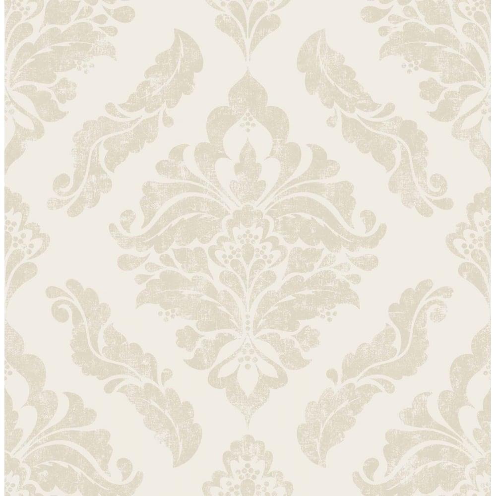 Elegant Cream Hallway With Damask Wallpaper: Graham & Brown Damaris Cream Damask Wallpaper 104156