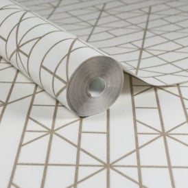 Kelly Hoppen Linear Gold Wallpaper 103000