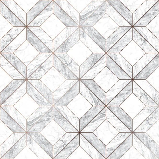 Graham And Brown Marble Marquetry Grey Kitchen And bathroom Wallpaper 103856