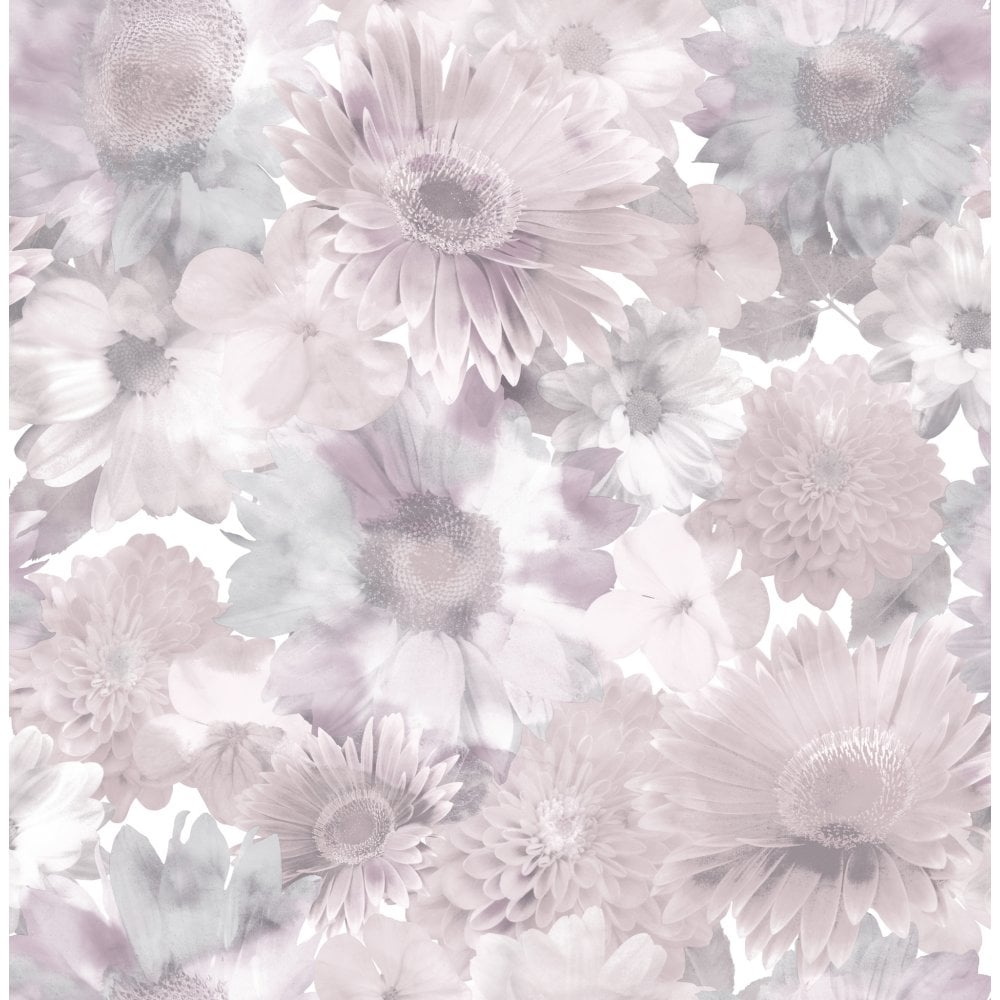 Graham Brown Summer Garden Pink Purple Floral Wallpaper 106372
