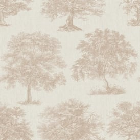 Superfresco Enchanted Tree Rose Gold Wallpaper 104877