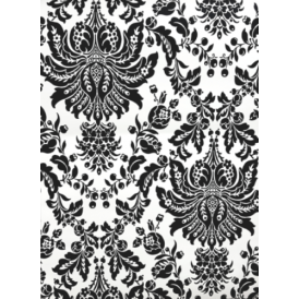 Superfresco Flock Damask Black And White Wallpaper 20-643