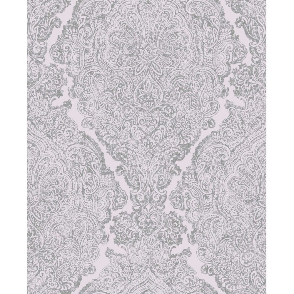 Windsor Lilac Amp Pewter Damask Wallpaper 101121