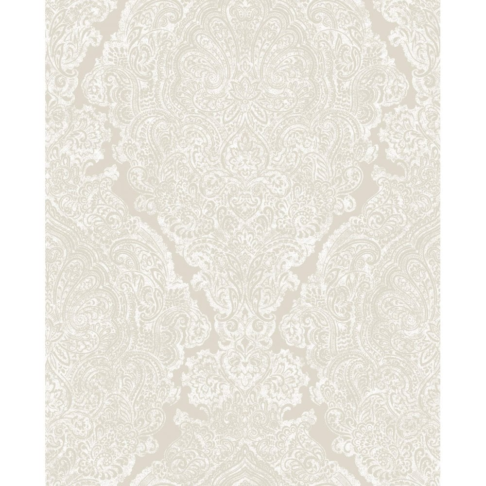 Windsor Pale Gold Amp White Damask Wallpaper 101133