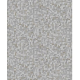 Boutique Jive Silver Metallic Geometric Wallpaper 101407