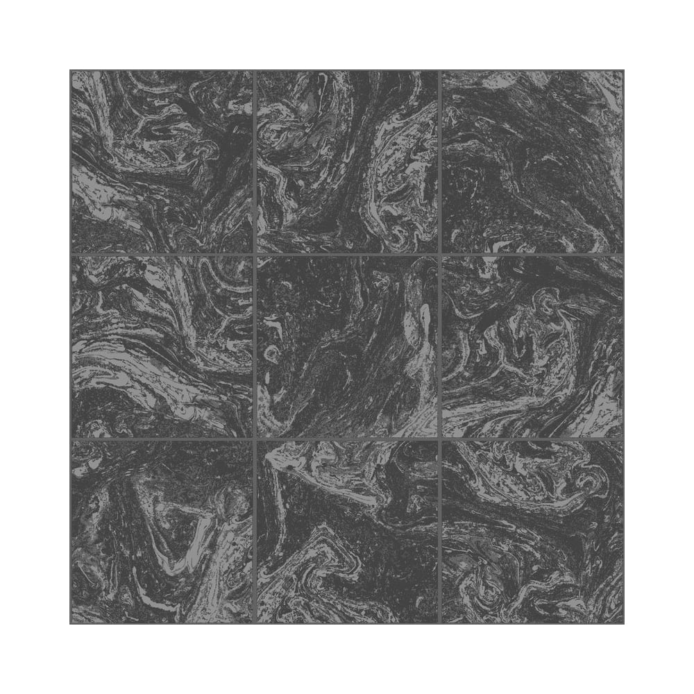 Graham Brown Contour Black Marble Tile Glitter Kitchen And