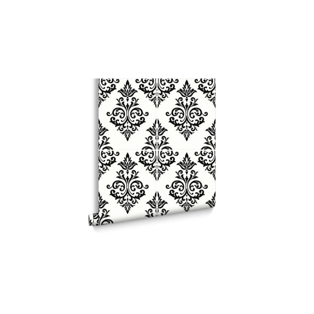 Graham Brown Damask Pallade Black And White Kitchen And Bathroom