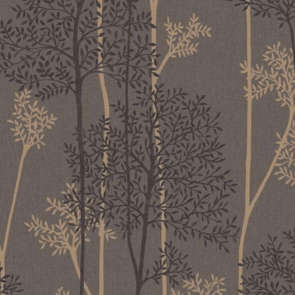 Graham & Brown Eternal Chocolate Bronze Tree Wallpaper 33
