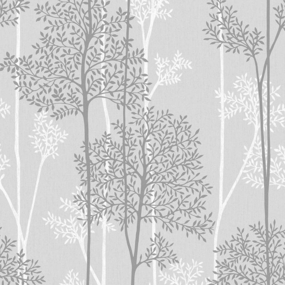 Eternal Grey Glitter Floral Tree Forest Wallpaper 33 287