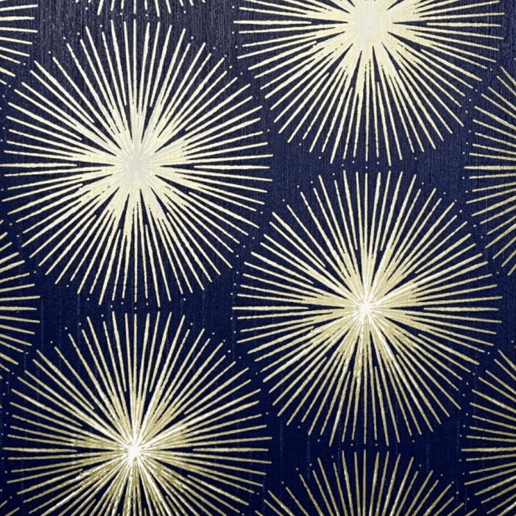 Sublime Gold Fire Circle Geometric Wallpaper