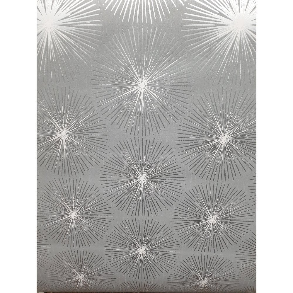Graham Brown Fire Circle Silver Grey Sublime Wallpaper 105981