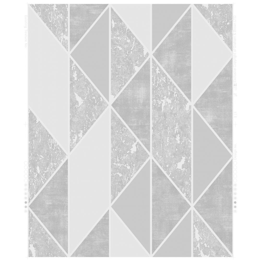 Graham Amp Brown Milan Silver Amp Grey Geometric Wallpaper