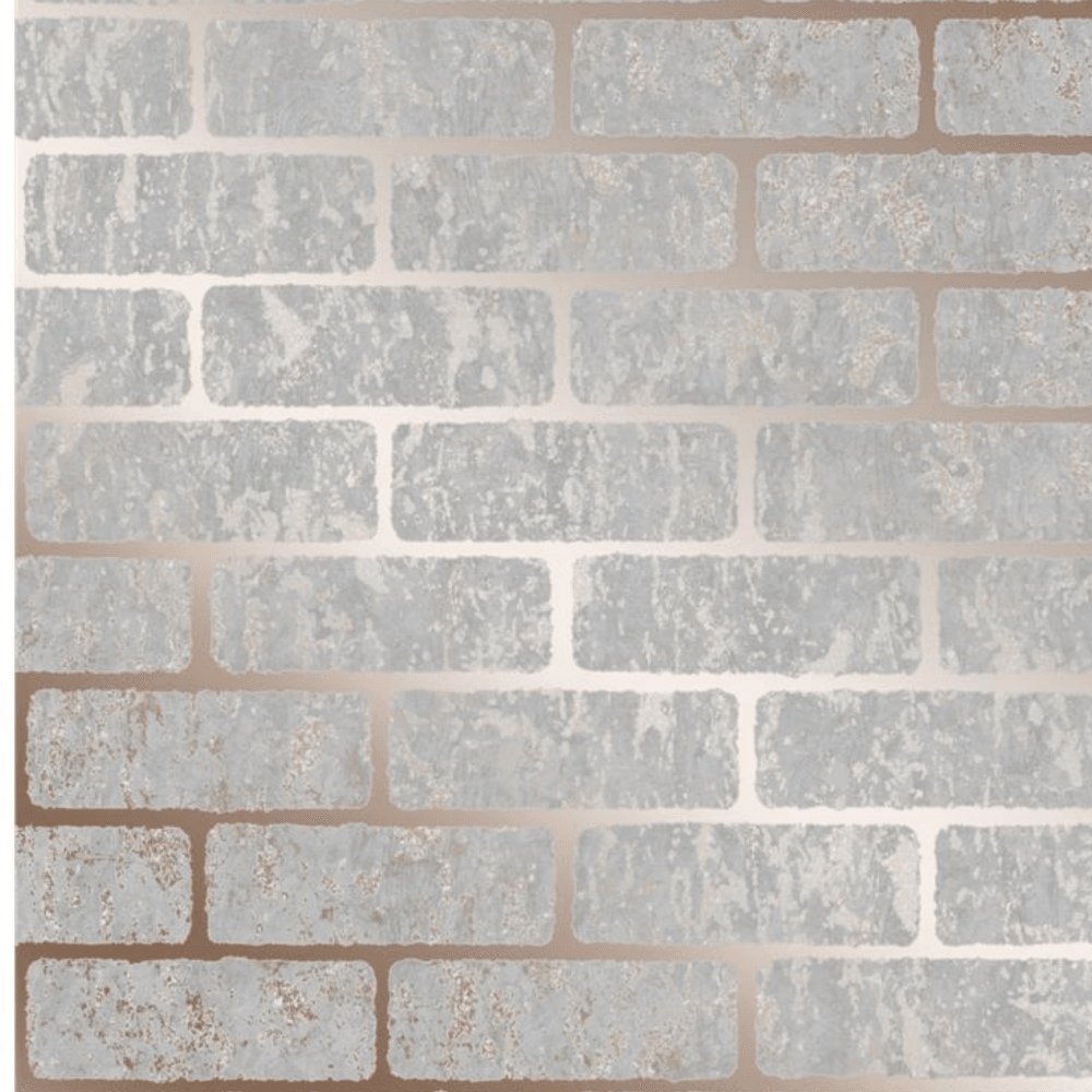 Rose Gold Milan Brick Wallpaper 106522