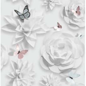Sfe Origami Butterfly And Roses Wallpaper 104128