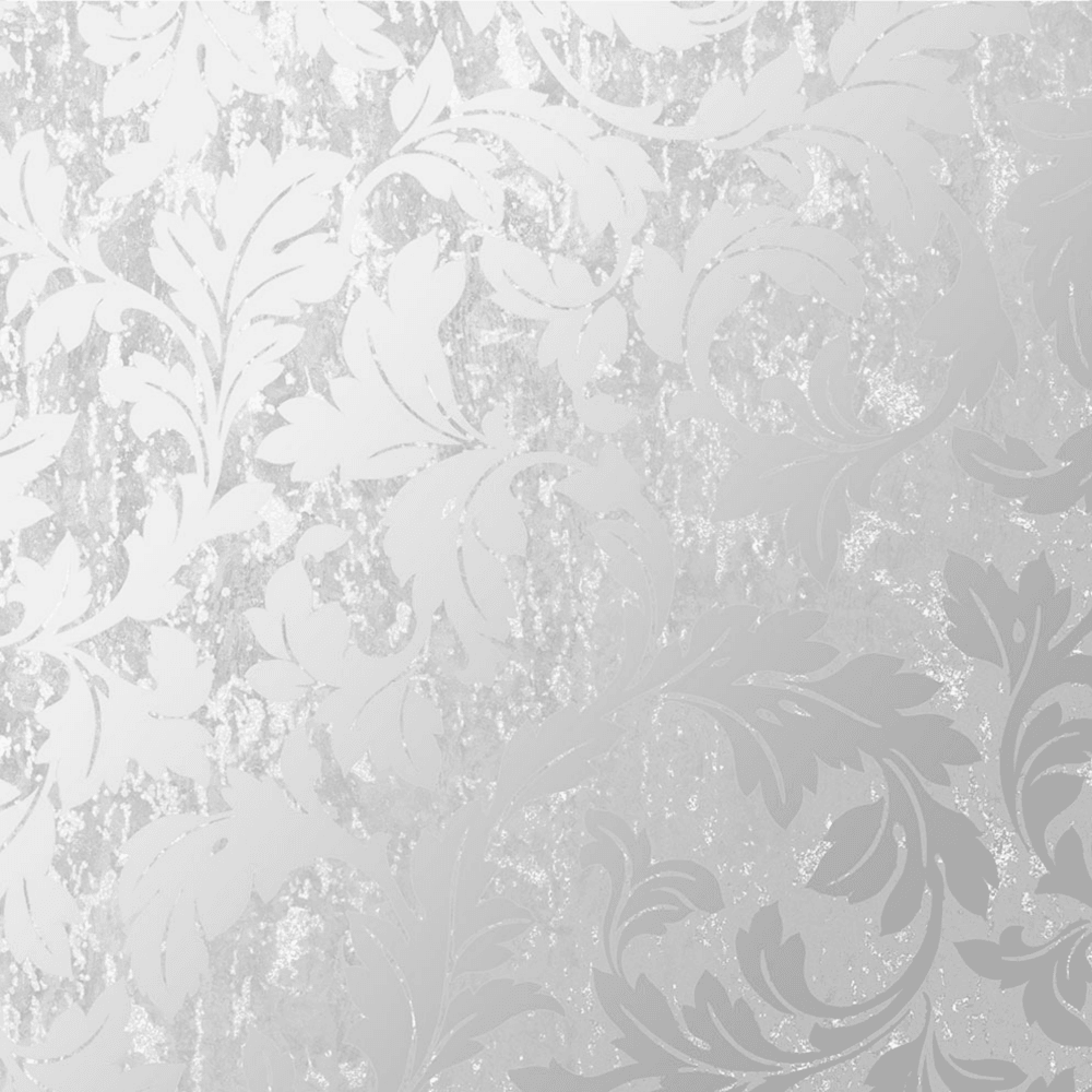 Graham Brown Silver Milan Scroll Floral Wallpaper 106526