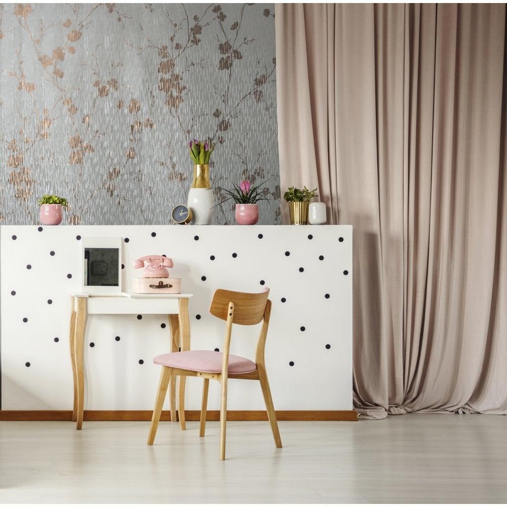 Sublime Cream Theia Metallic Floral Wallpaper