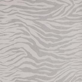 Superfresco Zebra Silver Glitter Animal Print Wallpaper 20-124