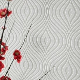 Superfreso Curvy White Blown Paintable Wallpaper 17583