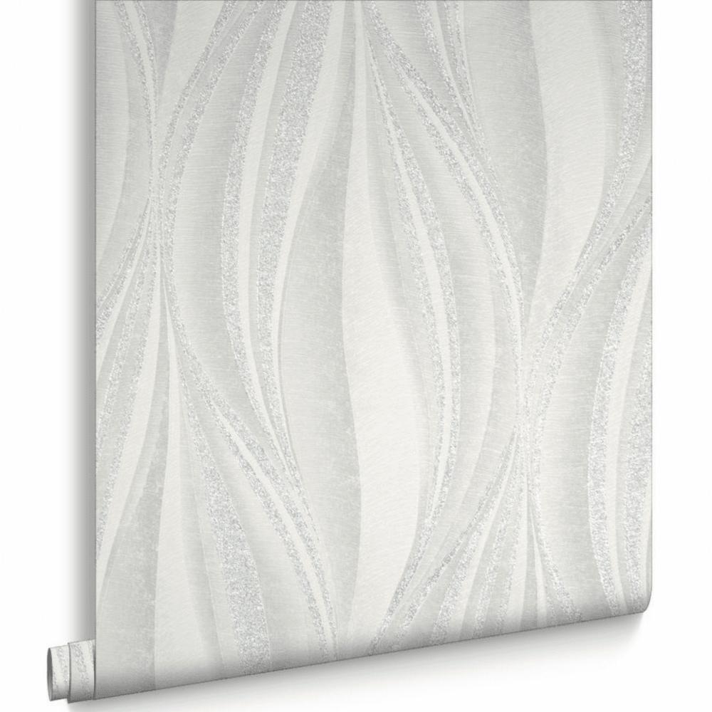Tango White And Silver Glitter Wallpaper 101397