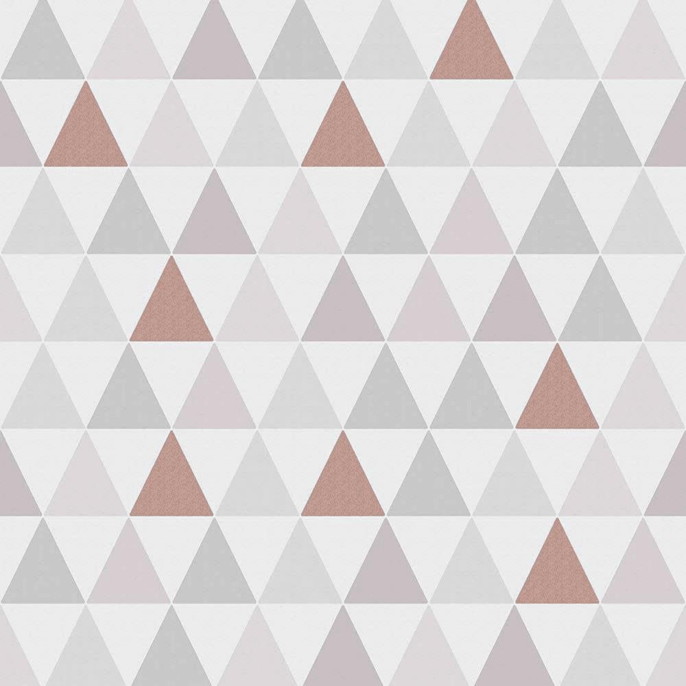 Tarek Rose Gold Triangle Geometric Wallpaper 103168