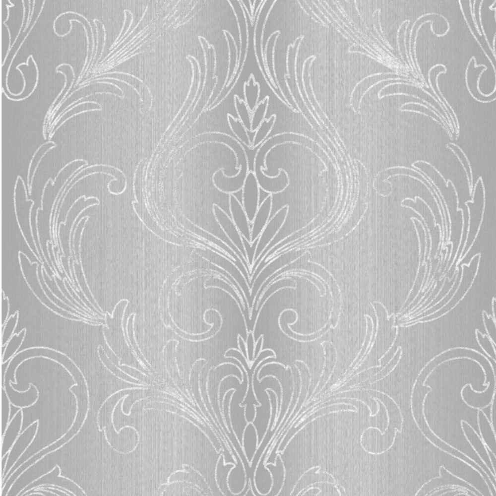Graham Brown Valentino Damask Silver Wallpaper 51 046
