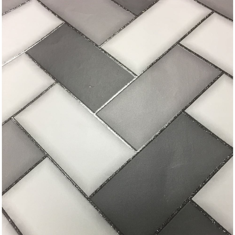 Holden Chevron Charcoal Grey Geometric Kitchen And Bathroom