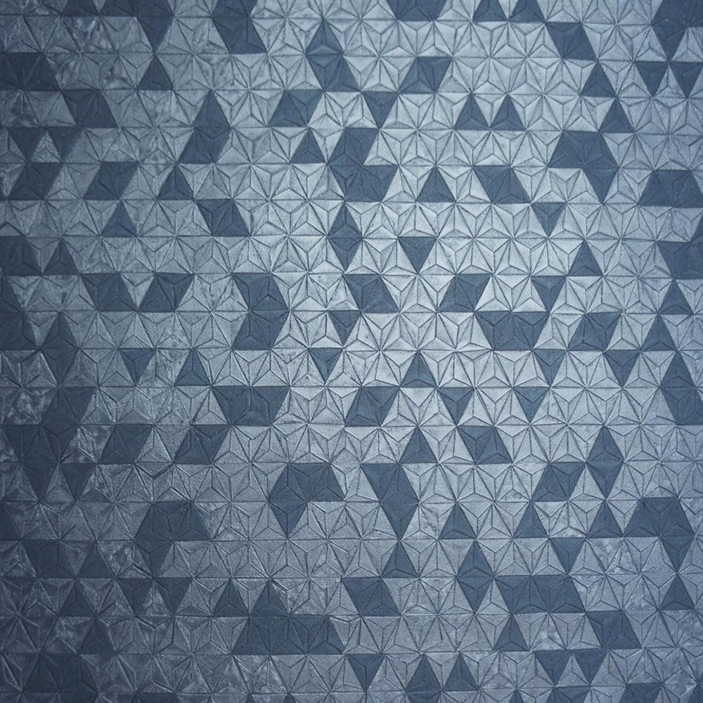 Navy Blue Origami Texture Geo Wallpaper 35982
