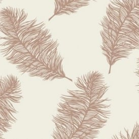 Fawning Cream And Rose Gold Feather Wallpaper 12627