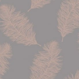 Fawning Grey And Rose Gold Feather Wallpaper 12629